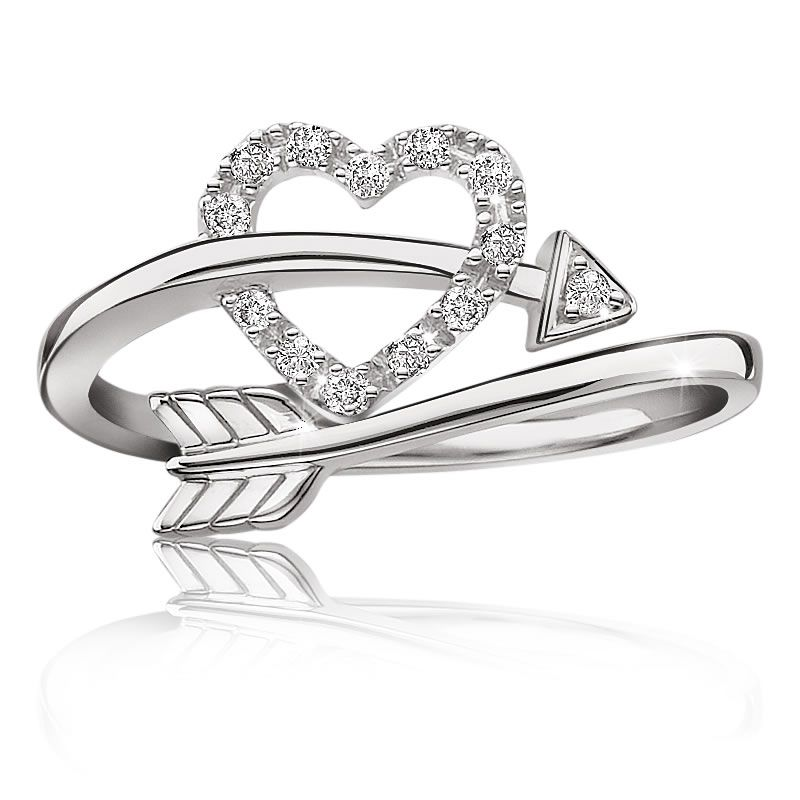 Promise Ring With  Hearts