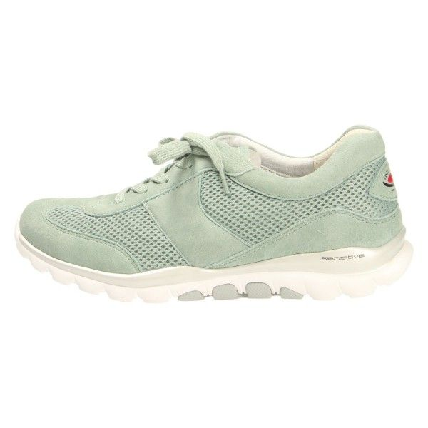 Gabor Sneaker blau Rolling Soft Veloursleder Damen Schuhe