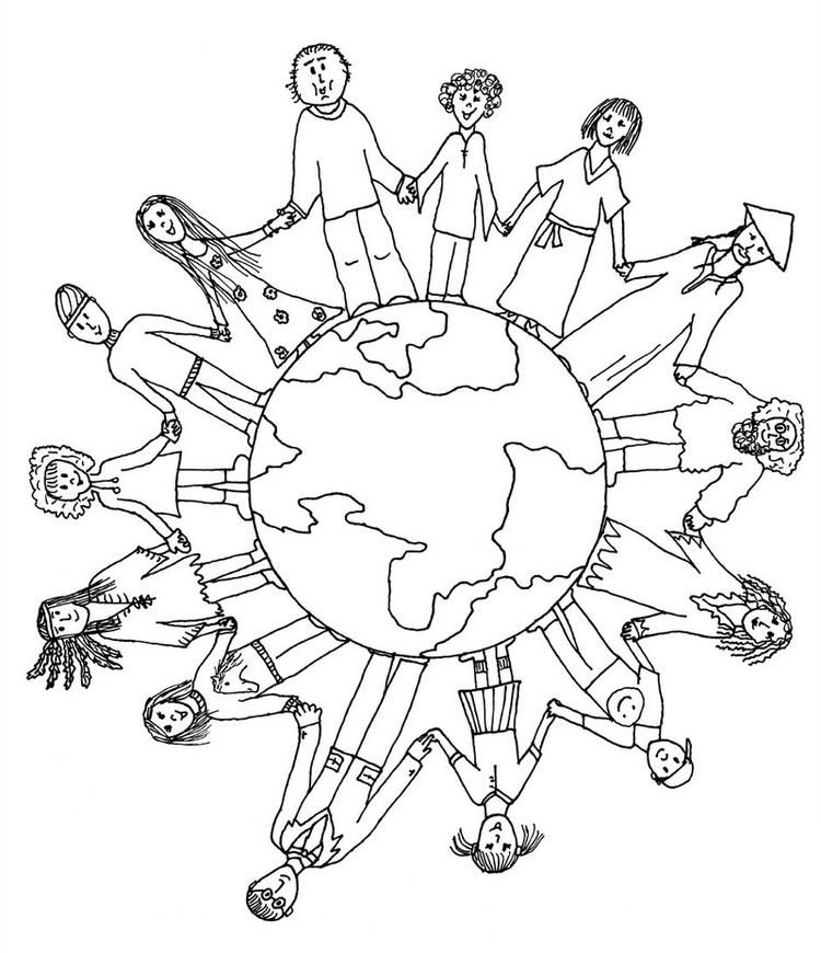Unity In Diversity In World Coloring Sheets For School Students Planet Coloring  Pages, Earth Day Coloring Pages, Earth Coloring Pages