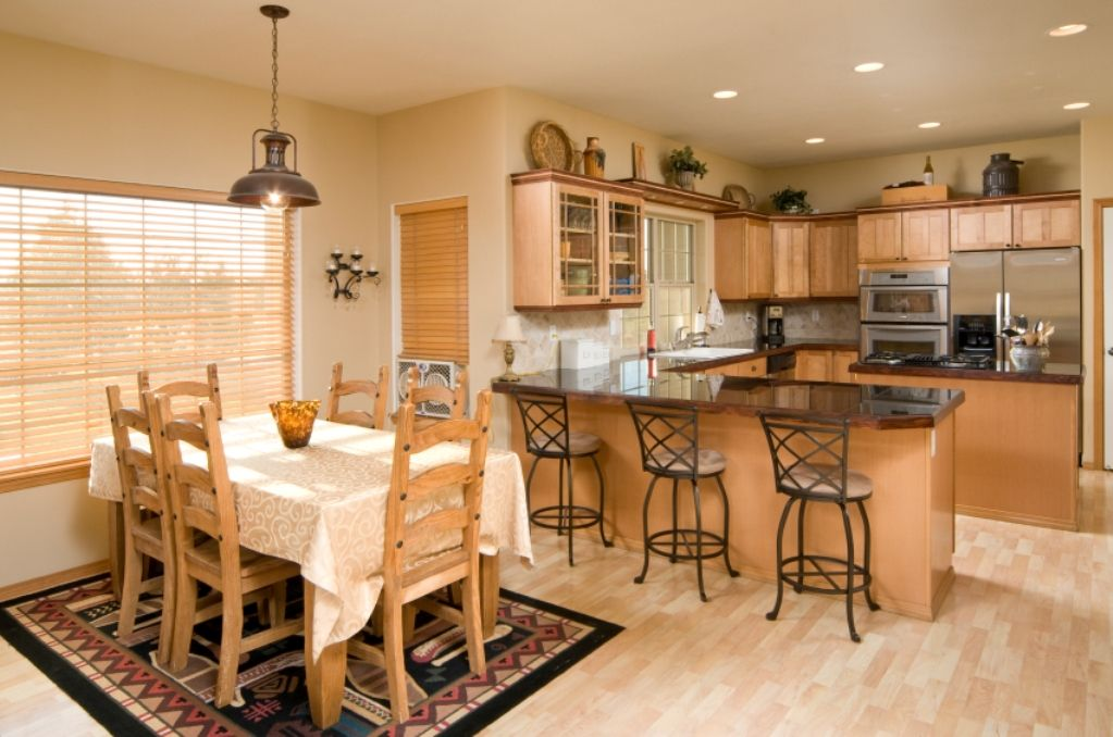 kitchen dining room ideas wooden concept with brown color interior ...