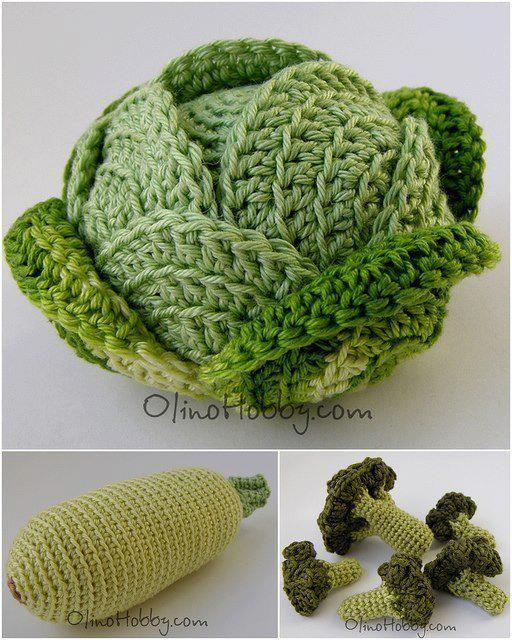 Amigurumi Vegetables : Green vegetables by olga from olinohobby