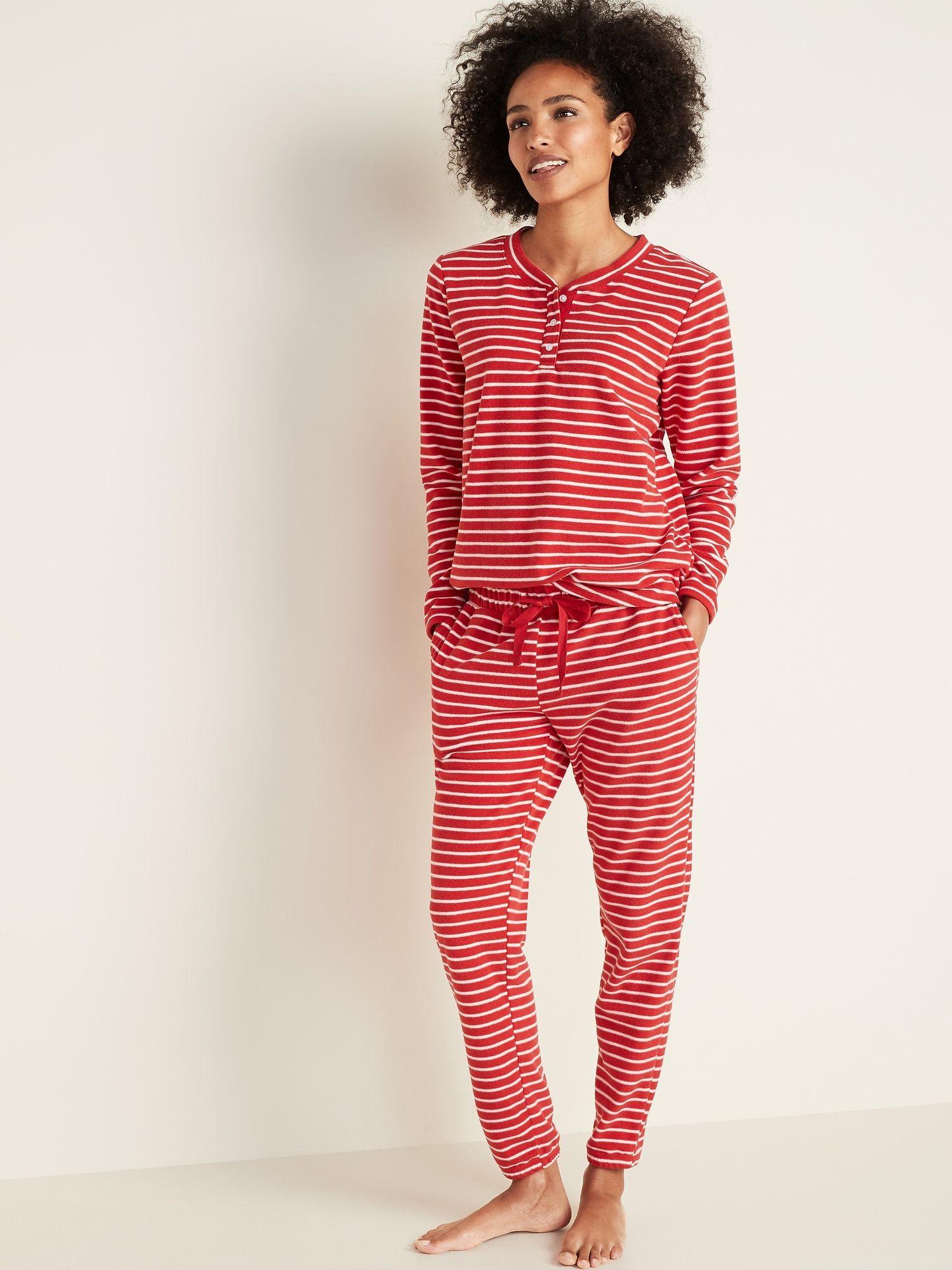 Micro Performance Fleece Pajama Set for Women Old Navy