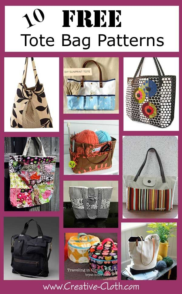 10 Free Tote Bag Patterns Pinterest Purse And