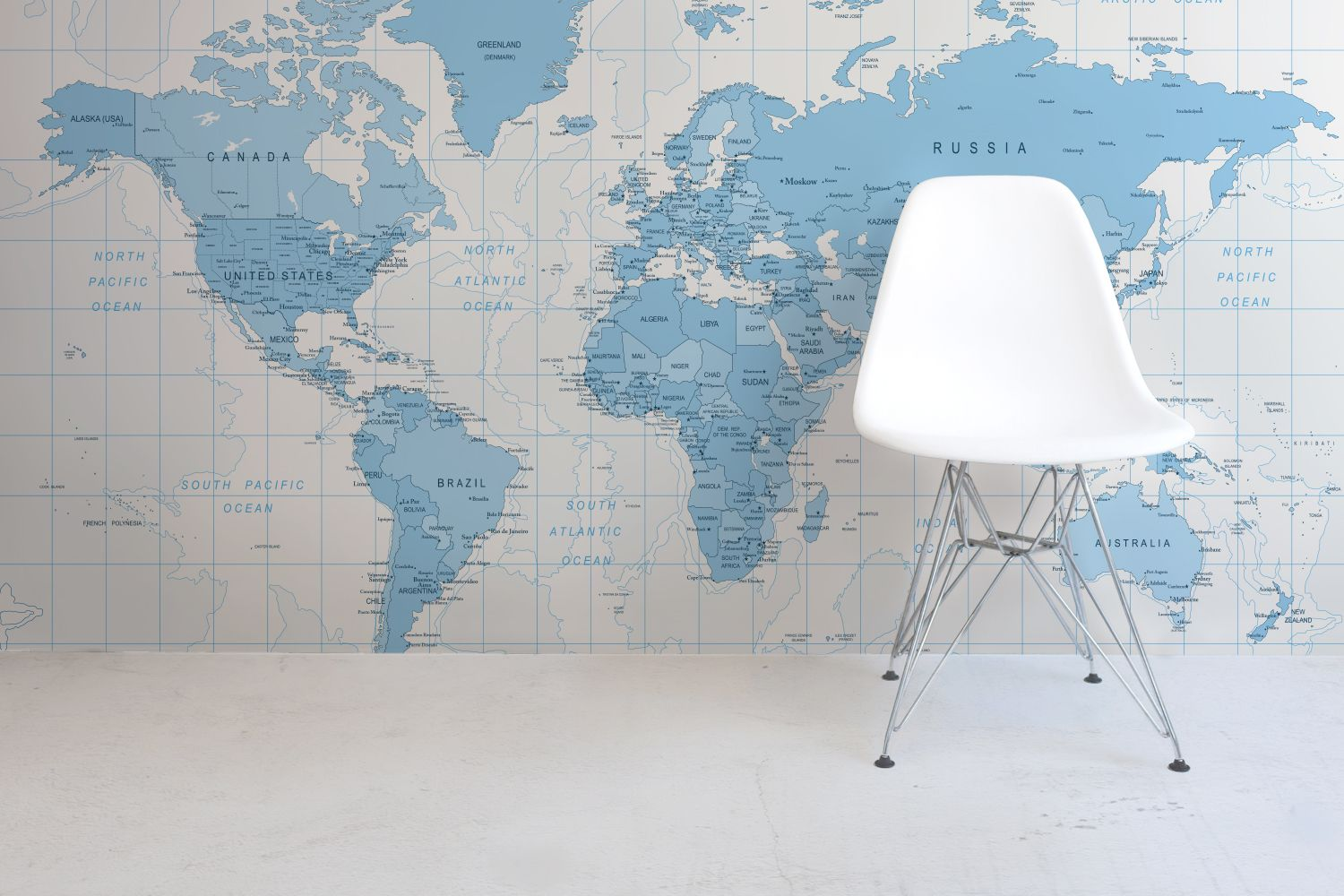 Blue detailed world map wall mural muralswallpaper blue detailed world map wall mural muralswallpaper gumiabroncs