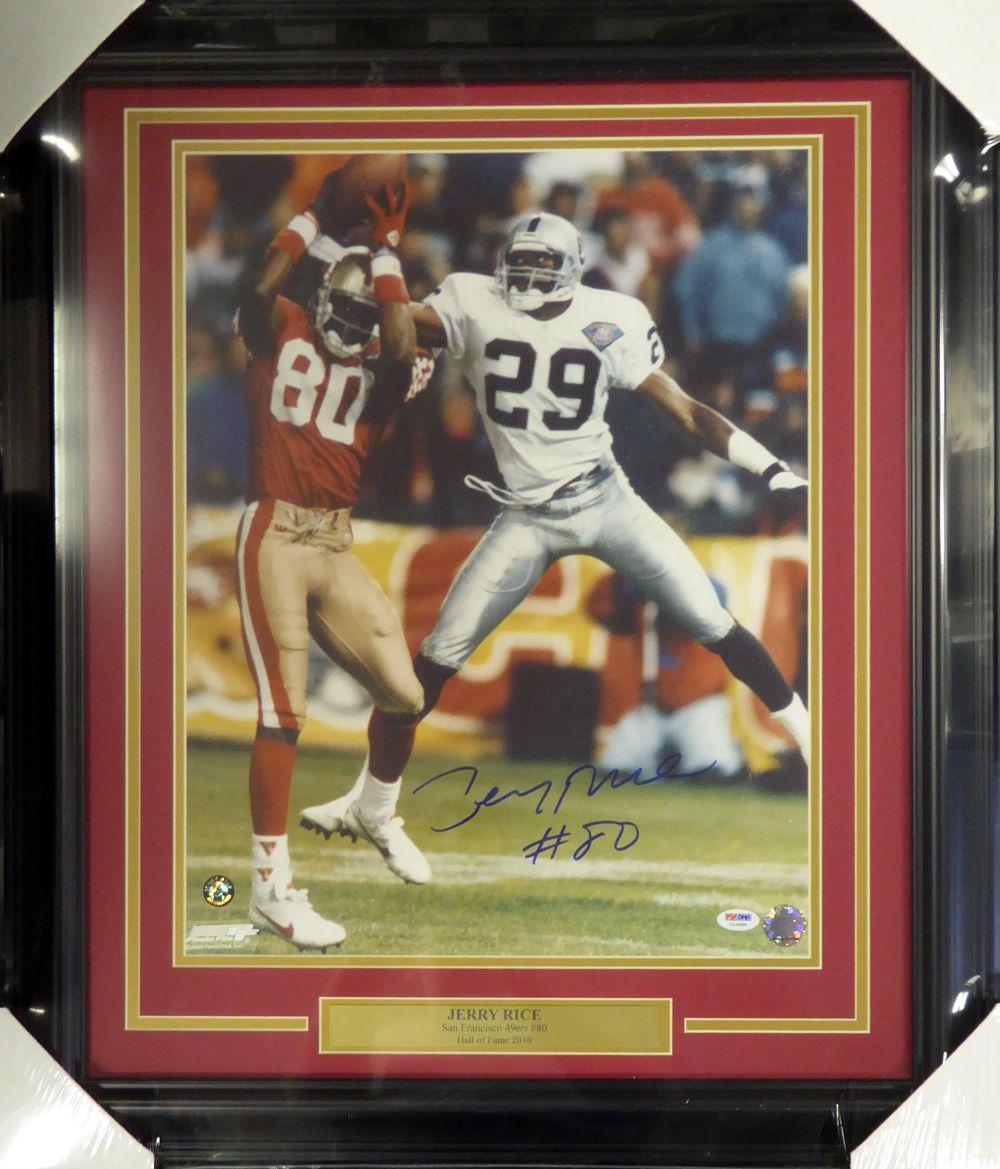 6d826a56a5b Jerry Rice Autographed Framed 16x20 Photo San Francisco 49ers PSA ...