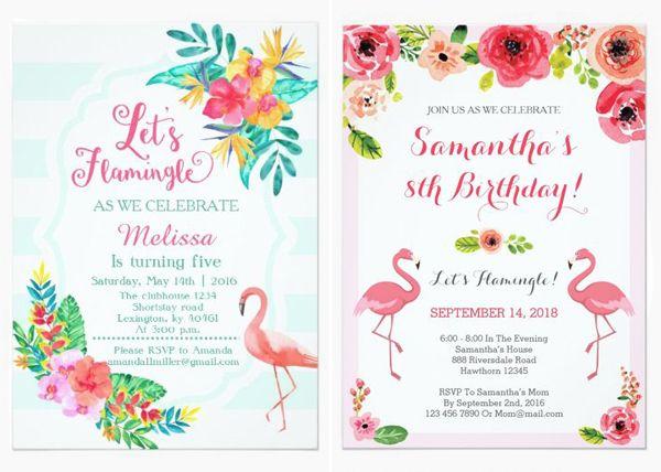 18 Convites Com Flamingo Para A Festa De 15 Anos Constance Zahn