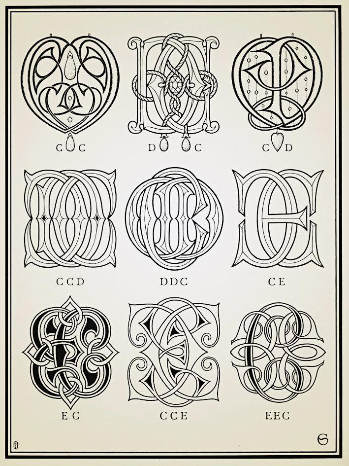 Monograms & Ciphers - 1906 #monograms