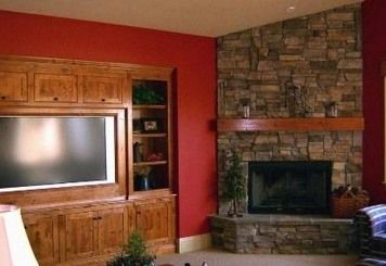 Contemporary Corner Stone Fireplaces Designs Ideas | Corner ...