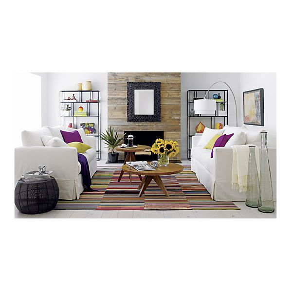 Living Room - Willow Sofa, Zola Rug, Zuri Accent Tables