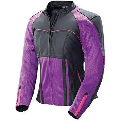Joe Rocket Radar Ladies Leather Motorcycle Jacket   Riding Apparel   Jake Wilson