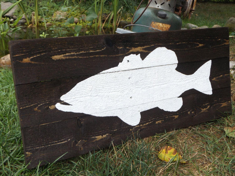 Rustic Fish B Lake Sign Fishing Decor House