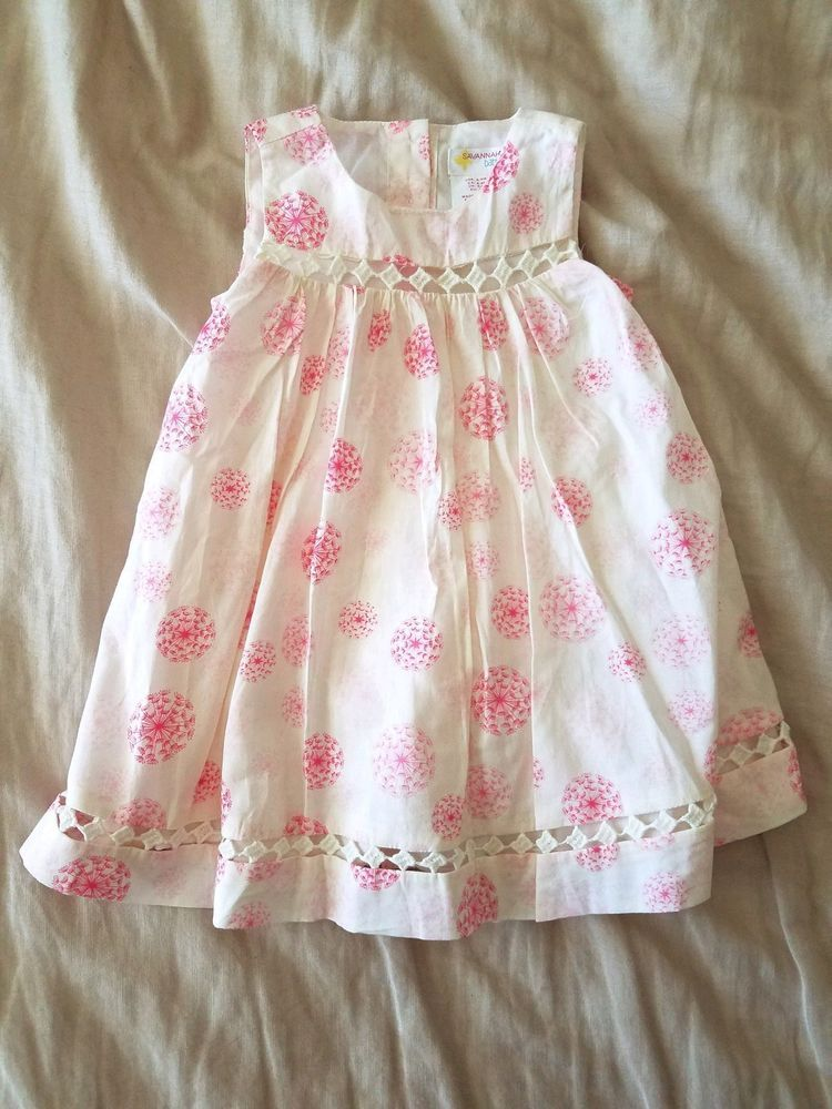 c6729747e40 Nwt Savannah white and pink floral print dress size 6-9 mths  fashion   clothing  shoes  accessories  babytoddlerclothing  girlsclothingnewborn5t  (ebay link)