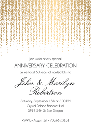 Foil stamped chandelier anniversary party invitation anniversary foil stamped chandelier anniversary party invitation paper source stopboris Image collections