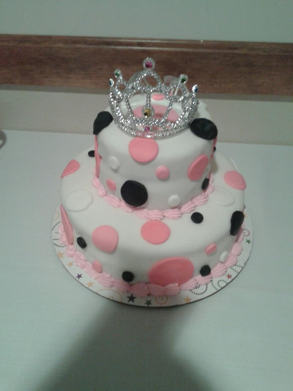 Melissas 2 tier rolled fondant cake cakes Pinterest