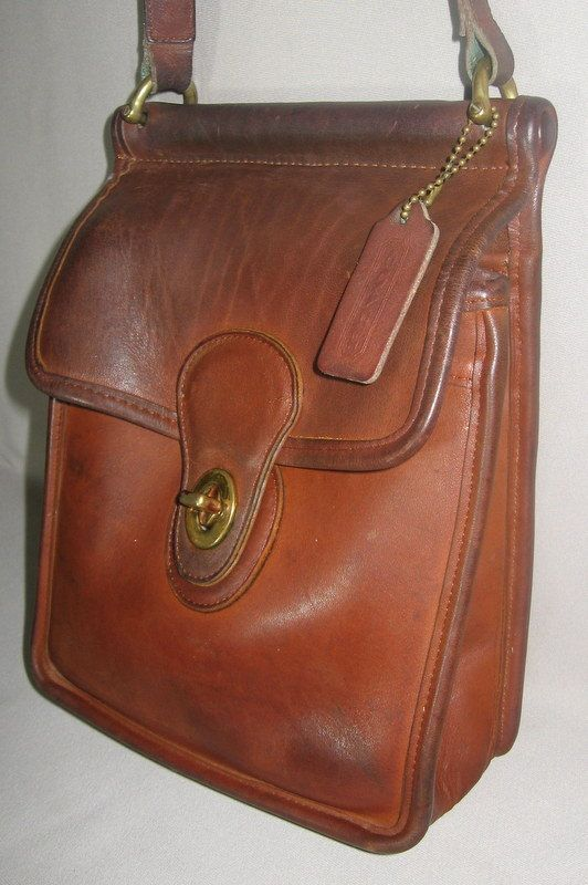Leather Vintage Coach Murphy Bag Cowhide Purse By Newprairie