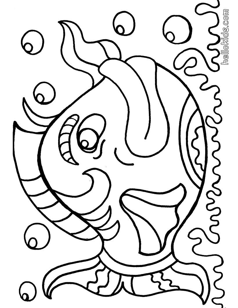 big fish coloring page find free coloring pages color poster and pictures in fish coloring pages print out and color these free coloring sheets and - Free Coloring Pages For Kids To Print Out