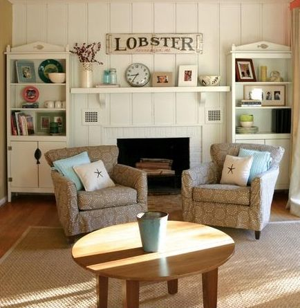 get cozy in upholstered beach cottage furniture cottage furniture rh pinterest co uk