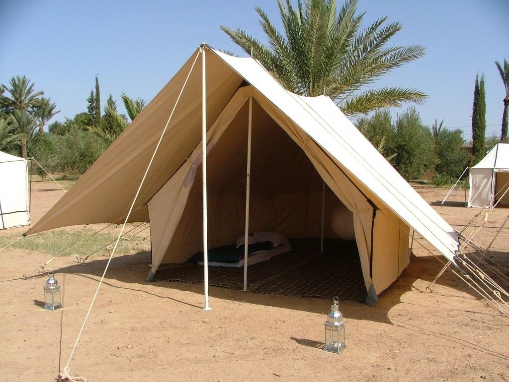 superior canvas tent fly #3: Canvas tent with fly tarp