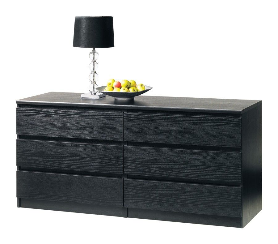 Best Brondby 6 Drawer Dresser Black 6 Drawer Dresser 400 x 300