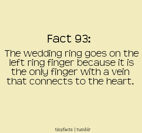 Is the left ring finger connected to the heart