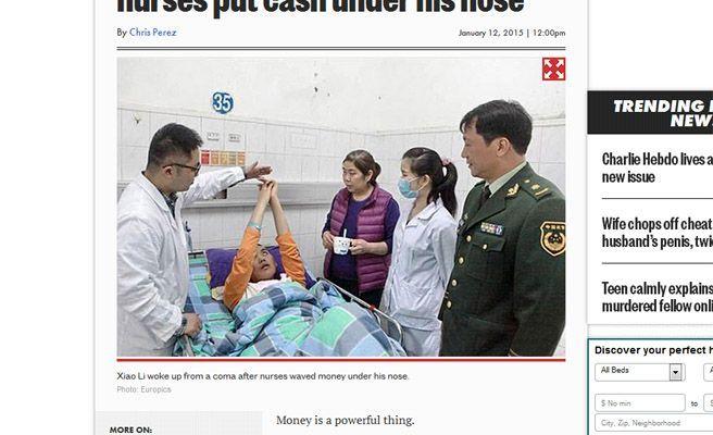 Un Enfermo Terminal 'Resucita' Al Sentir El Olor Del Dinero