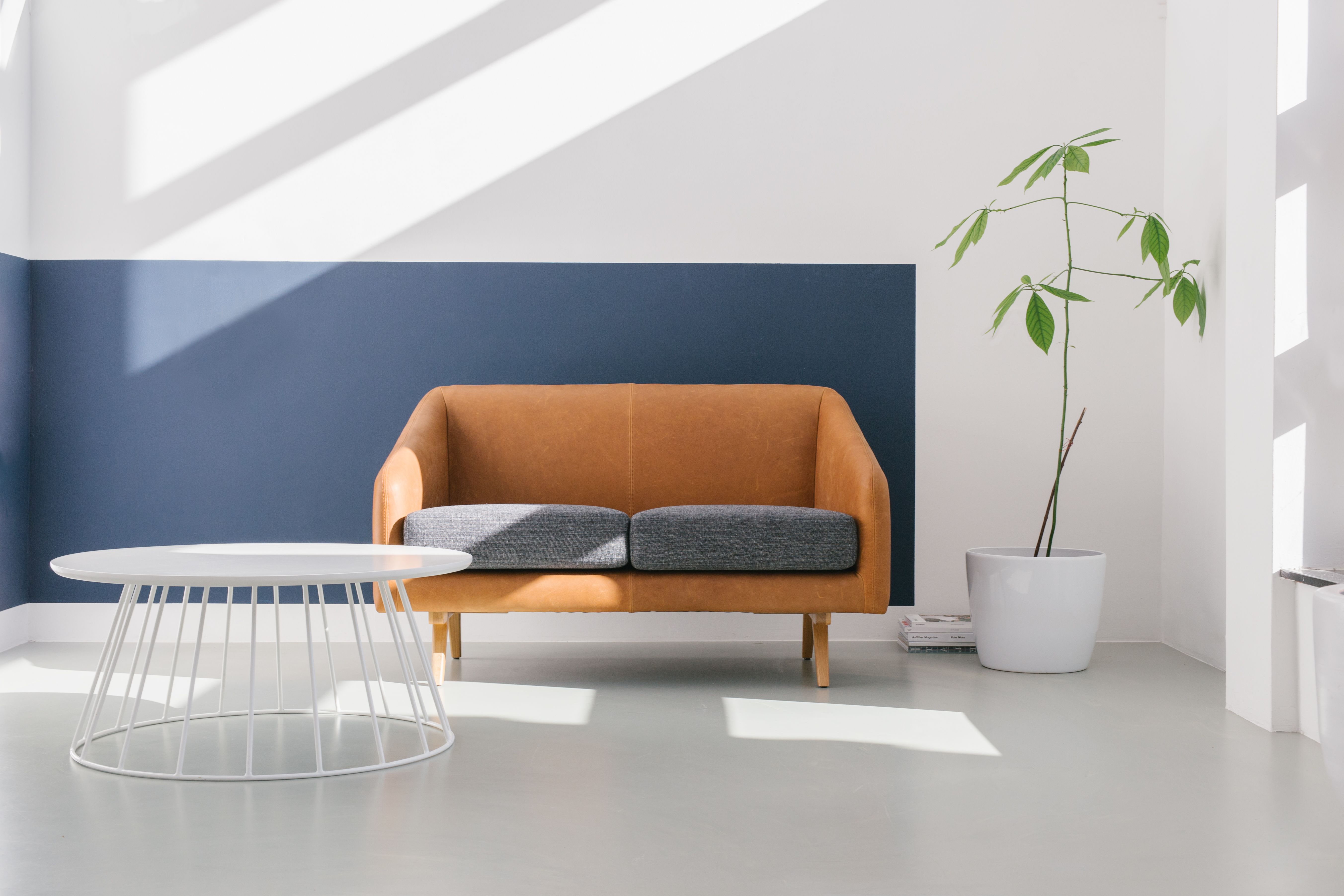 Myra in leather 2 seater sofa