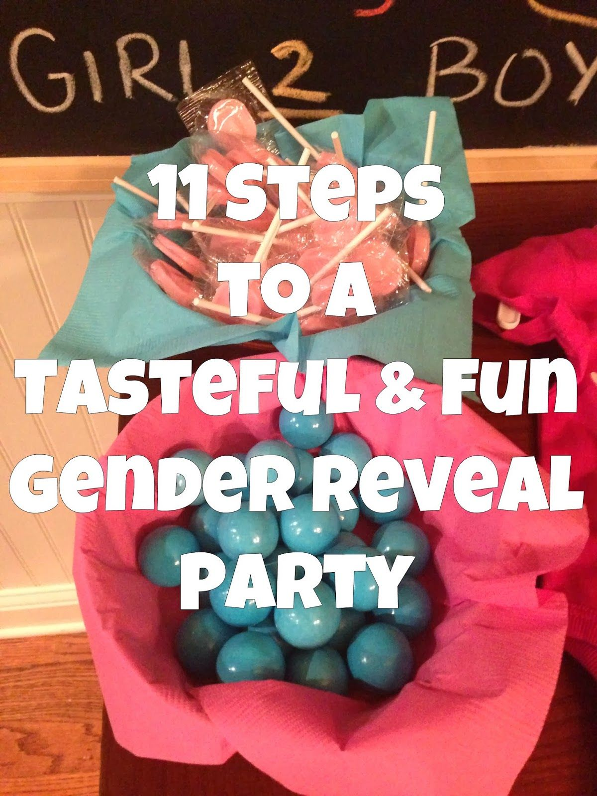 11 Steps to a Tasteful and Fun Gender Reveal Party