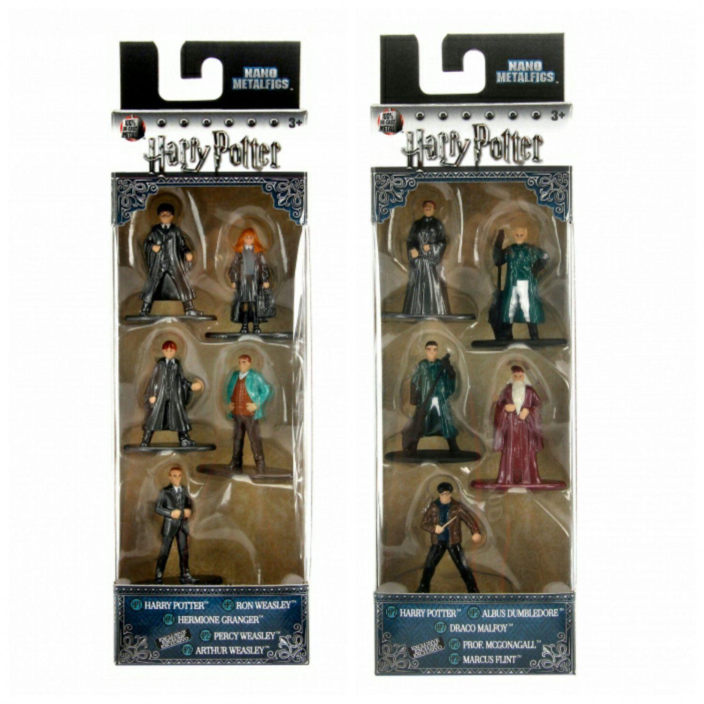 Nano Die Cast Jada Metal Figs 5 Pack Figure Collector Set Harry Potter