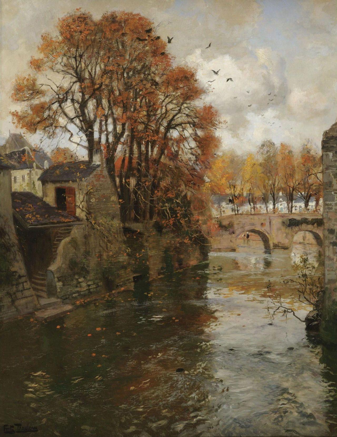 Poboh Quimperle Bretagne Frits Thaulow Norwegian Impressionist