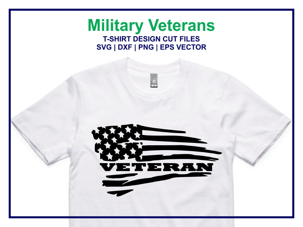 Military Veterans American Flag SVG Vector Vectorency in