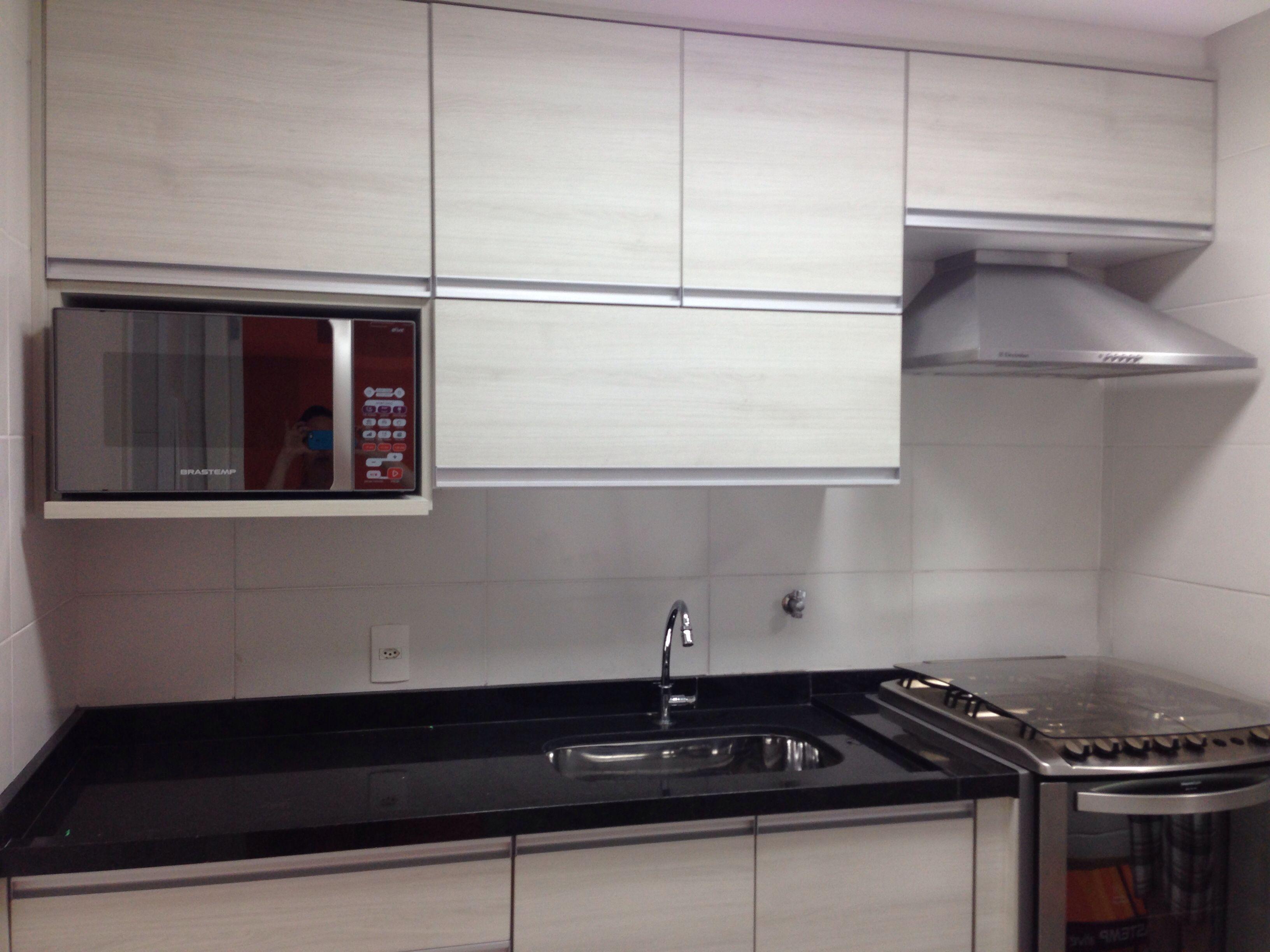 Cozinha Quase Pronta Nicho Do Microondas Cozinha Embutida