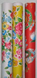 Chinese floral gift wrap--  great colors