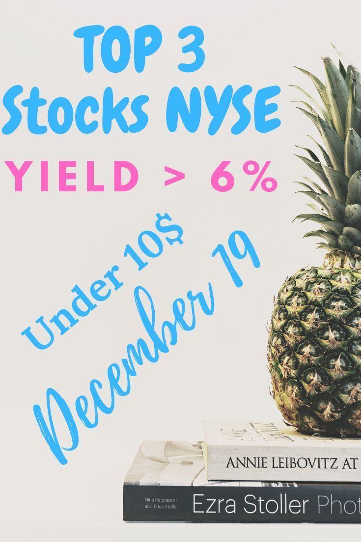 Top 3 Stocks in December 2019 NYSE in 2020