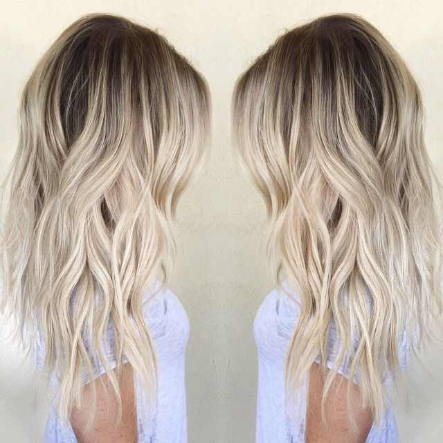 Cool Icy Ashy Blonde Balayage Highlights Shadow Root Waves And Curls Blonde H Sofistyhairstyle Hair Colour Design Hair Color For Women Blonde Balayage Highlights