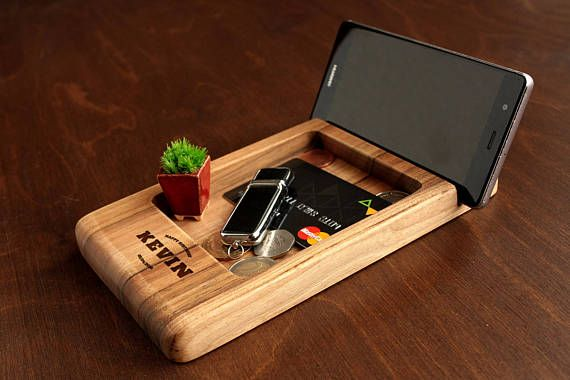 Docking Station Gifts For Men Birthday Gift Him Mens Ideas Dad Christmas Boyfriend Wood Valet Tray