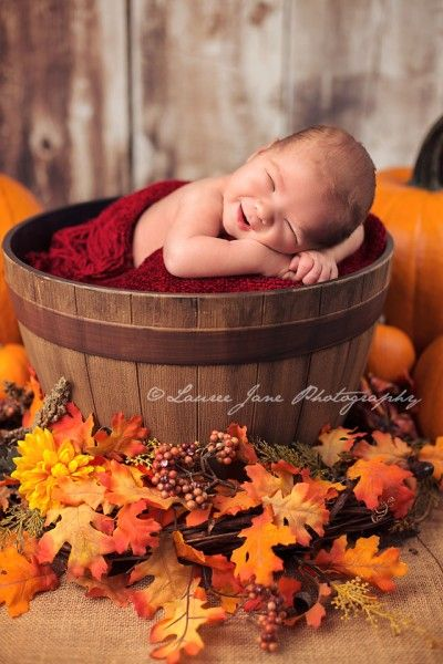 Newborn Fall Picture Ideas