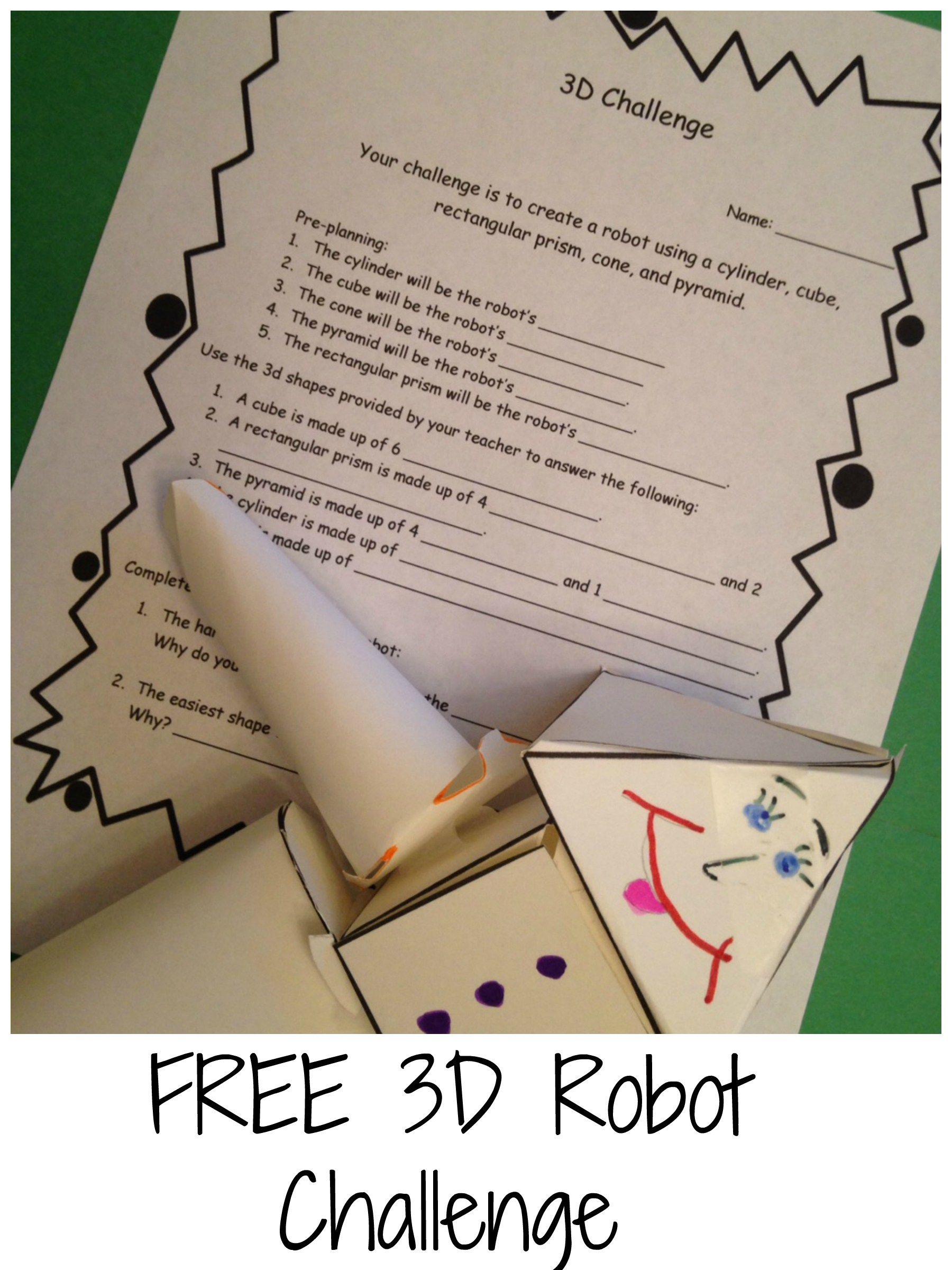 3d Shapes Stem Robot Challenge