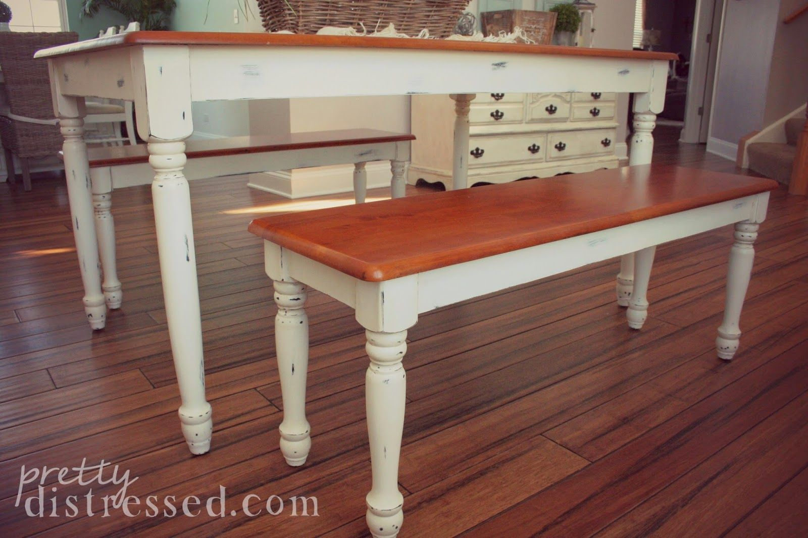 Walmart Kitchen Table Makeover using Annie Sloan Chalk Paint in