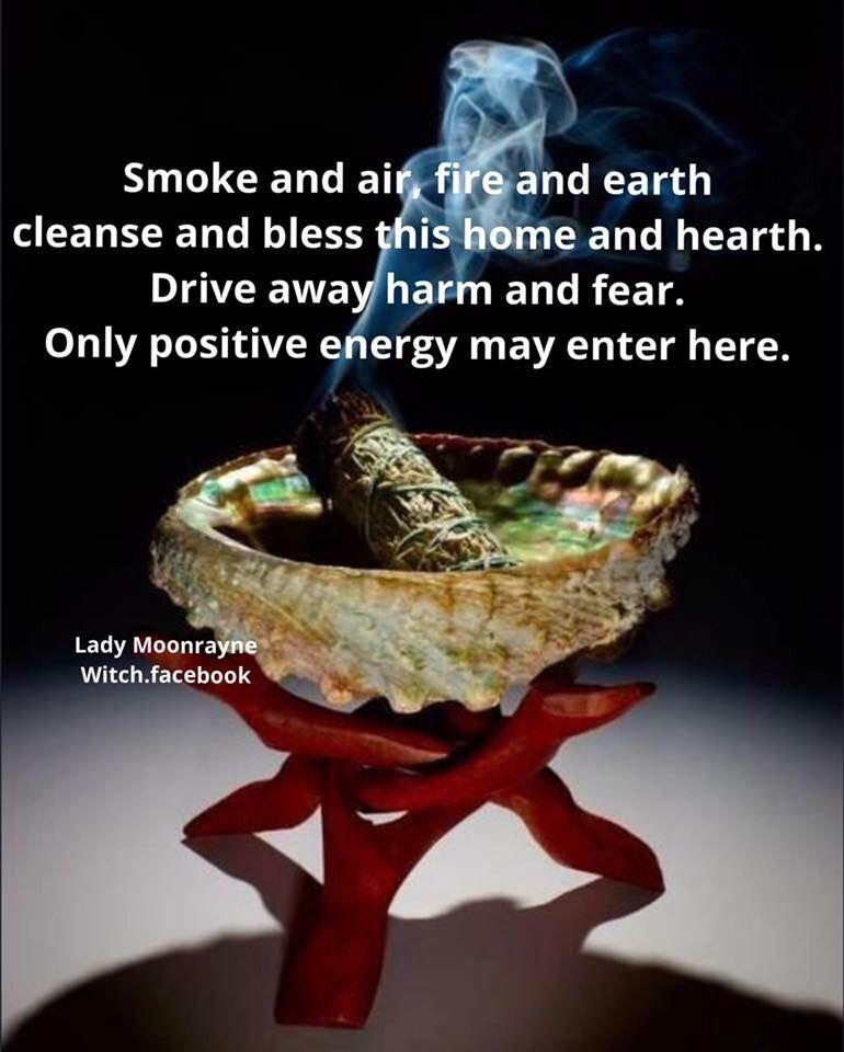 Cleansing Chant Smudging prayer, Spiritual cleansing