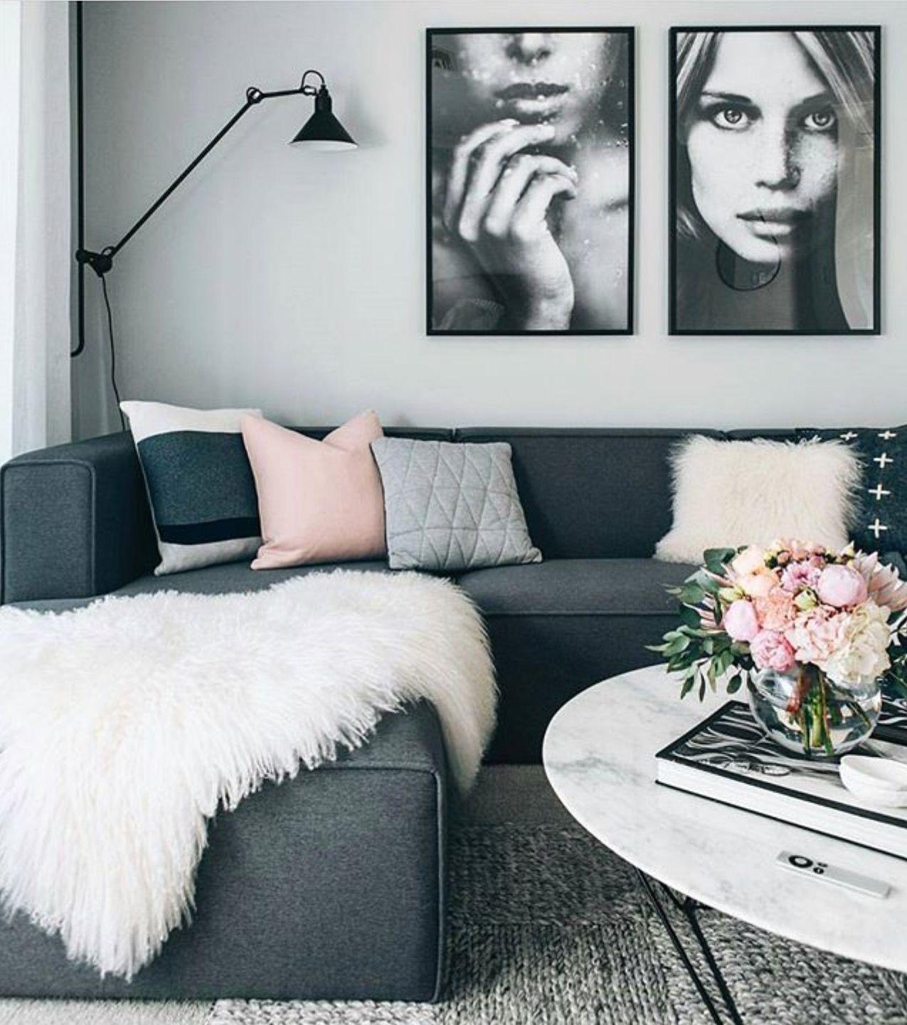 couleur du gris dans le salon cocon