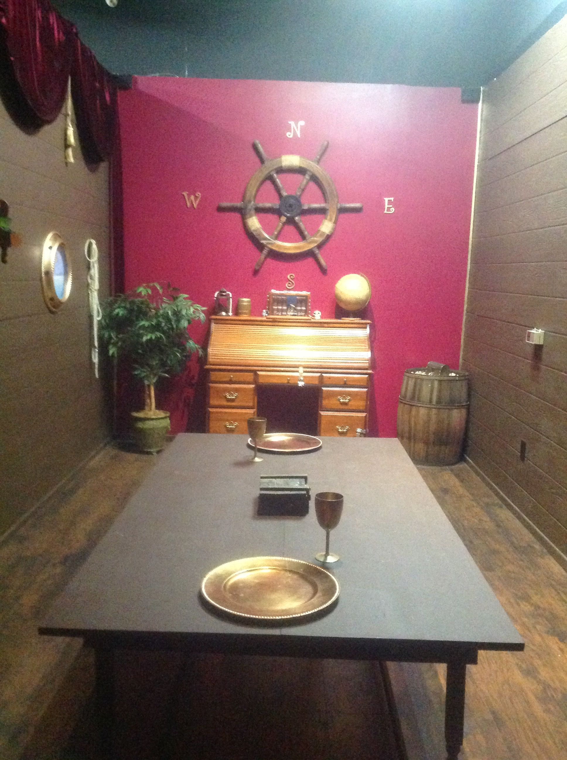 This Is How We Set Up Our Pirate Room Check It Out In Antelope Valley S First Live Escape Room Book Online A Escape Room Puzzles Escape Room Escape Room Game