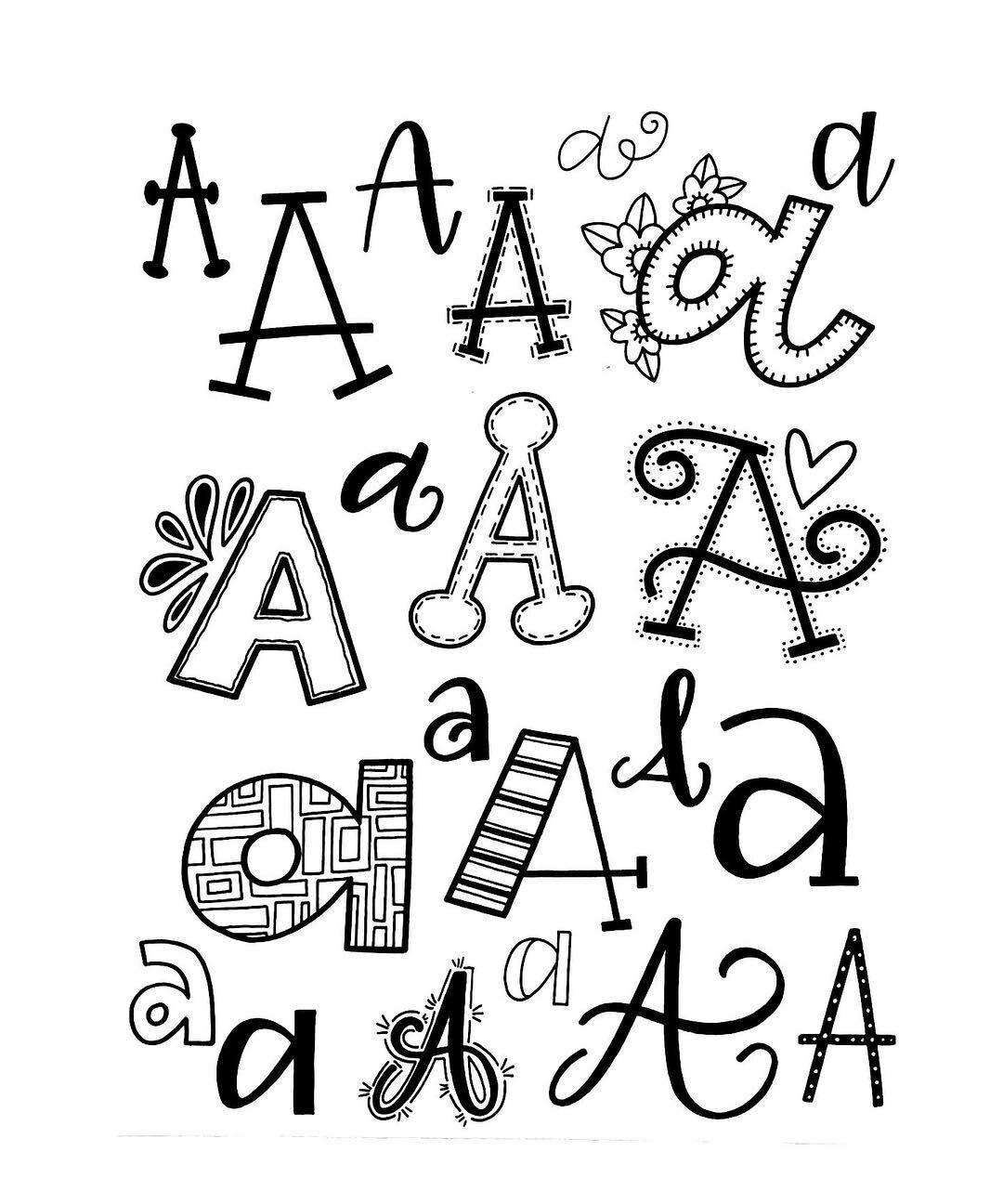 Variationen des Buchstaben A   Handlettering - kunstvoll Schreiben ...