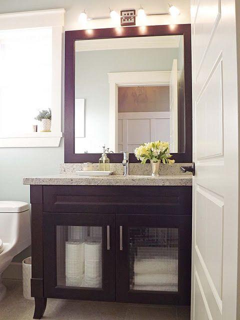 Martha Stewart Rainwater Paint Dark Wood And White Trim Home - Martha stewart bathroom colors