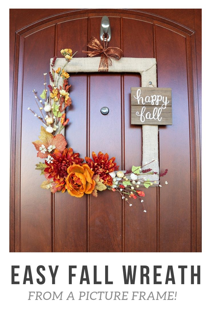 A Simple Fall Wreath that Won't Break the Bank #falldecorideasforthehome