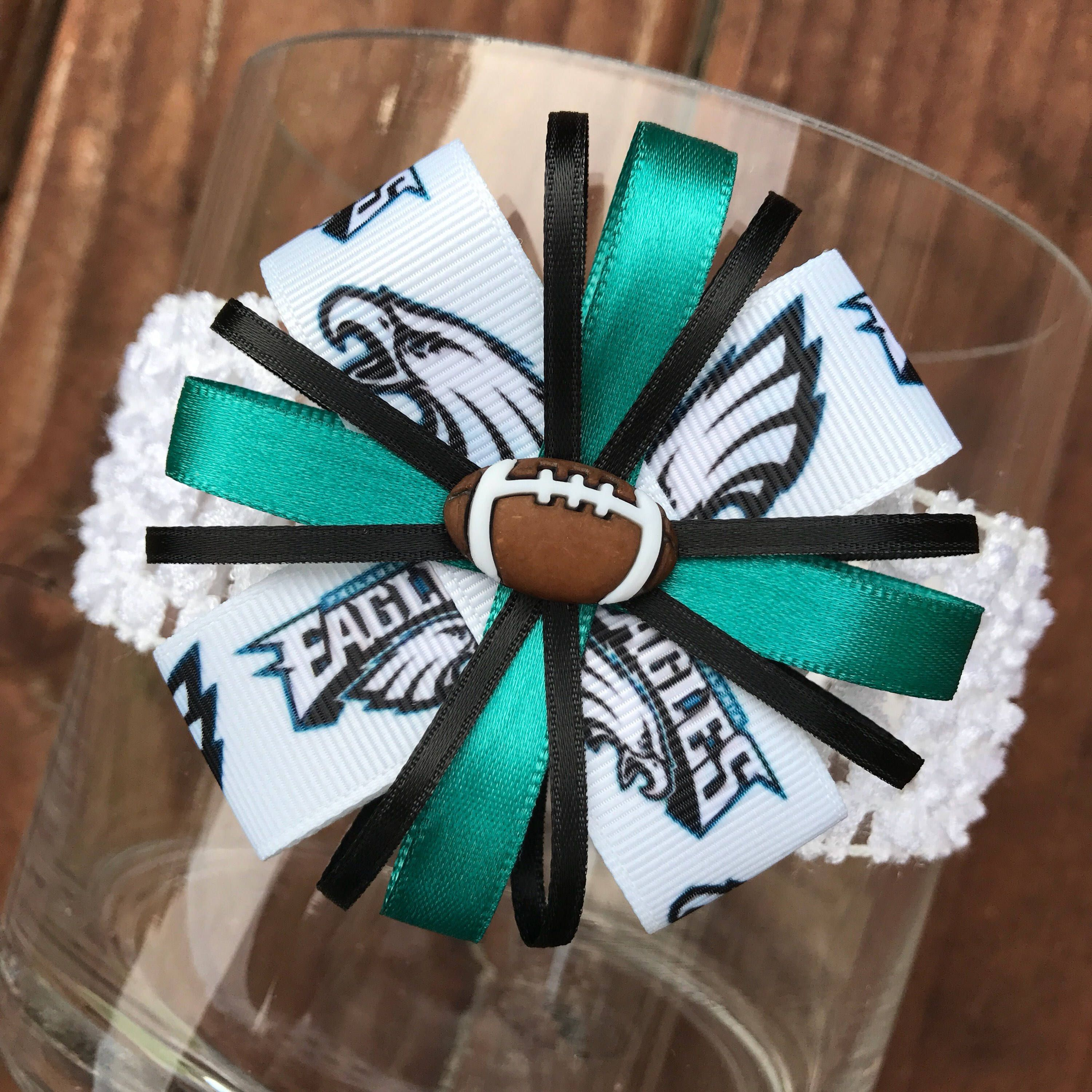 Philadelphia Eagles Headband or Hair Bow Eagles Baby Headband (baby child adult)  Eagles Football Girl Bow Philadelphia Eagles Ribbon Bow by TutusByJessT on  ... beeb74f9e45