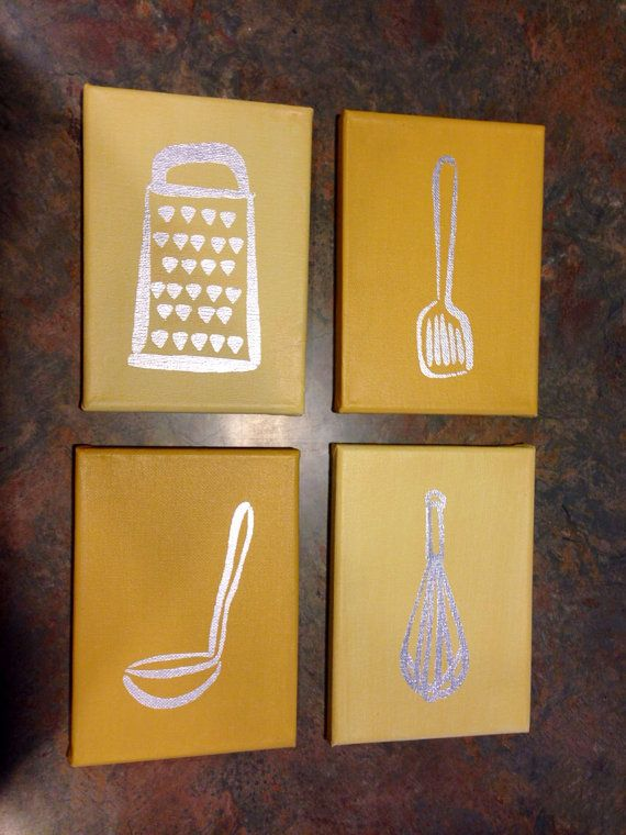 Kitchen Utensil Silhouette Wall Decor By AHaDesignHouse On Etsy