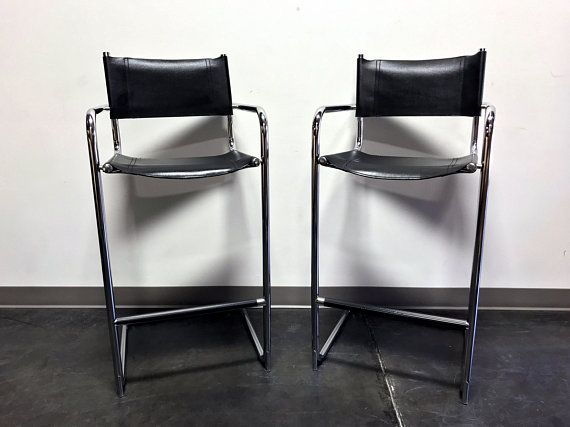 Awesome Mart Stam Chrome Black Leather Bar Stools Made In Italy Pdpeps Interior Chair Design Pdpepsorg