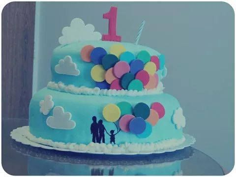 Clouds and Balloons Cake made by Me