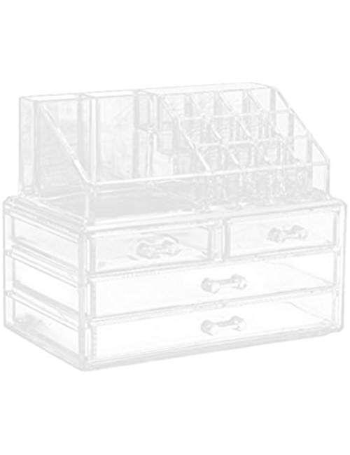 Frcolor Cosmetic Makeup Organizer Portable Makeup Drawers Storage