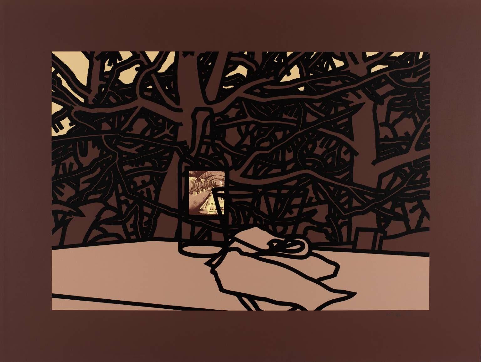 """""""Rosé Bottle"""" Patrick Caulfield 1975"""